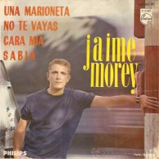 Discos de vinilo: JAIME MOREY EP SELLO PHILIPS AÑO 1965. Lote 12884601