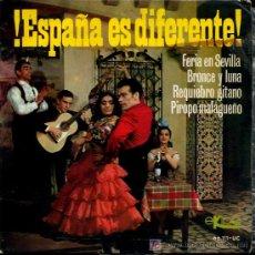 Discos de vinilo: ALFONSO Y MANUEL LABRADOR - FERÍA DE SEVILLA / BRONCE Y LUNA / REQUIEBRO GITANO - EP 1966. Lote 12931400