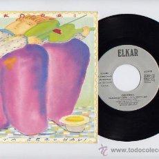 Discos de vinilo: OSKORRI. MUSICA FOLK VASCA. 45 RPM. PROMOCIONAL. MOZKORRI+ITSASOTIK HILARGICA.. ELKAR 1987. Lote 27276726