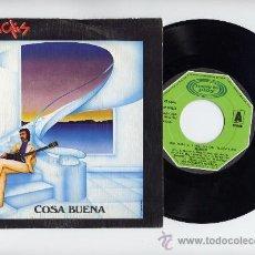 Discos de vinilo: MANGLIS / LUIS COBO. 45 RPM. COSA BUENA + ESCALERA AL CIELO. MOVIEPLAY AÑO 1981. Lote 21608815
