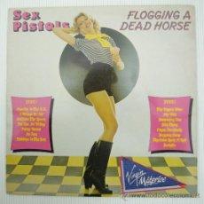 Discos de vinilo: SEX PISTOLS FLOGGING A DEAD HORSE PUNK DISCO LP VINILO. Lote 24090160