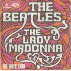 Discos de vinilo: THE BEATLES - LADY MADONNA - SINGLE EDICION FRANCESA. Lote 26993128