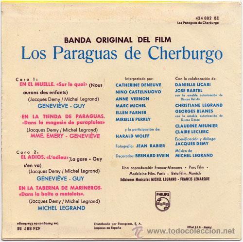 Discos de vinilo: Contraportada. - Foto 2 - 19828591