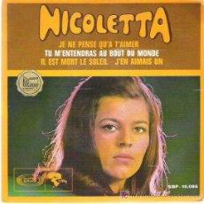 Discos de vinilo: NICOLETTA - JE NE PENSE QUA TAIMER *** SONOPLAY EP 1968. Lote 13130282