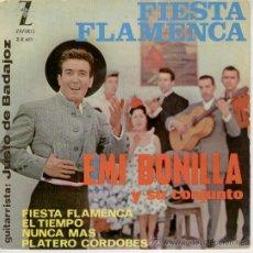 Discos de vinilo: EMI BONILLA - FIESTA FLAMENCA - EP. Lote 18471017