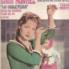 Discos de vinilo: LP SARA MONTIEL CANTA LA VIOLETERA, MIMOSA, FLOR DE TE, FROU FROU, MALA ENTRAÑA, CUORE INGRATO, ETC . Lote 17839285