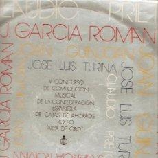 Discos de vinilo: *** LP CONCURSO ARPA DE ORO. OBRAS DE CLAUDIO PRIETO, GARCIA ROMAN, JOSE L. TURINA Y JOAN GUINJOAN. Lote 17801927