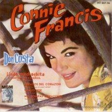 Discos de vinilo: CONNIE FRANCIS - LINDA MUCHACHITA - EP 1962. Lote 26876929
