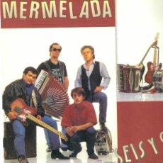 Discos de vinilo: MERMELADA. SEIS Y 9 (CARPETA CON HOJAS PROMOCIONALES Y FOTO) (VINILO LP 1990) . Lote 13226893