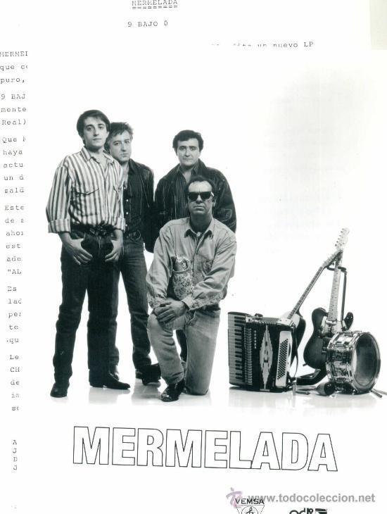 Discos de vinilo: MERMELADA. Seis y 9 (Carpeta con hojas promocionales y foto) (vinilo Lp 1990) - Foto 2 - 13226893