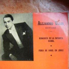 Disques de vinyle: ALEJANDRO ULLOA RECITADOS. Lote 26919967