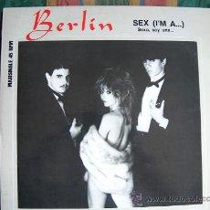 Discos de vinilo: MAXI - BERLIN - SEX I'M A / INSTRUMENTAL VERSION - ORIGINAL ESPAÑOL, MERCURY RECORDS 1983. Lote 13292518