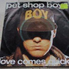 Vinyl records - PET SHOP BOYS ( LOVE COMES QUICKLY - THAT'S MY IMPRESSION ) 1986-HOLANDA SINGLE45 EMI - 13320455