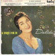 Discos de vinilo: DALIDA - LA CHANSON D'ORPHÉE ** EP BARCLAY 1959 DIFICIL. Lote 13326088