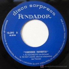 Discos de vinilo: DISCO SORPRESA FUNDADOR: 'CANCIONES FAVORITAS': LOS BRINCOS, LOS TRONCOS, LOS MONDAY'S, 1966. Lote 26449697