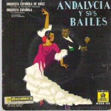Discos de vinilo: ANDALUCIA Y SUS BAILES - EMMA MALERAS Y YOLANDA ** EL VITO ---EMI ODEON. Lote 13350032