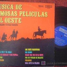 Discos de vinilo: MUSICA DE FAMOSAS PELICULAS DEL OESTE 1973 (LOS SIETE MAGNIFICOS-EL ALAMO-SOLO ANTE EL PELIGRO.....). Lote 26267080