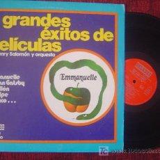 Discos de vinilo: GRANDES EXITOS DE PELICULAS 1976 (EMMANUELLE-PAPILLON-EL GOLPE-SERPICO....). Lote 26267081