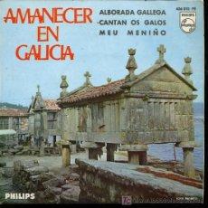 Discos de vinilo: CORAL POLIFONICA EL ECO - ALBORADA GALLEGA / CANTAN OS GALOS / MEU MENIÑO - EP 1966. Lote 13419134