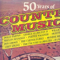 Discos de vinilo: 50 YEARS OF COUNTRY MUSIC- CAMDEN - INGLES -12 TEMAS. Lote 25012342