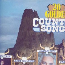 Discos de vinilo: 20 GOLDEN COUNTRY SONGS- ALEMAN- FARON YOUNG, CHARLIE RICH JERRY LEE LEWIS ,JOHNNY CASH,PATSI CLINE . Lote 25012344