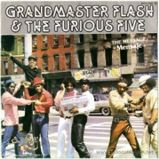 Disques de vinyle: GRANDMASTER FLASH – THE MESSAGE – SN PROMO SPAIN 1982 – SUGAR HILL / ZAFIRO OOX-565. Lote 15858001
