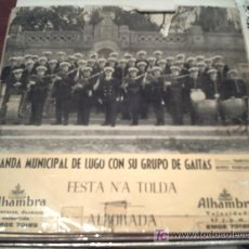 Discos de vinilo: EP FOLK GALICIA : BANDA MUNICIPAL DE LUGO CON SU GRUPO DE GAITAS PEPETO. Lote 25434479