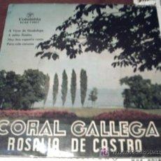 Discos de vinilo: EP GALICIA - CORAL GALLEGA ROSALIA DE CASTRO - A VIRXE DE GUADALUPE + PEPETO. Lote 23339296