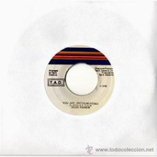 Discos de vinilo: DEAN FRASER - YOU ARE (NSTRUMENTAL) / VERSION RASS BRASS INC. – SG JAMAICA – TAD. Lote 15765719
