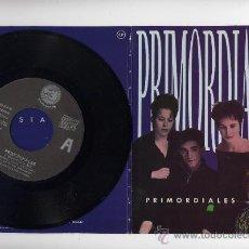 Discos de vinilo: PRIMORDIALES. EP 45 RPM. INFECTADAS+ BLACK IS BLACK +2. RABIA RCDS.AÑO 1989. Lote 27208553