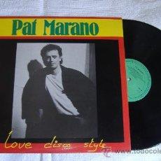 Discos de vinilo: PAT MARANO, MAXI SINGLE LOVE DISCO STYLE. Lote 26158748