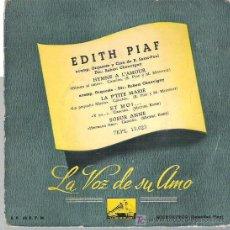 Discos de vinilo: EDITH PIAF - HYMNE A L`AMOUR ** EP LA VOZ DE SU AMO 1959. Lote 14384182
