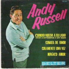 Discos de vinilo: ANDY RUSSELL - CUANDO VUELVA A TU LADO *** EP BELTER 1962. Lote 16143976