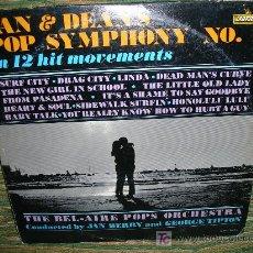 Discos de vinilo: THE BEL-AIRE POPS ORCHESTRA JAN & DEAN´S POP SYMPHONY NO.1-ORIGINAL U.S.A.-1965-DIFICIL. Lote 26962796