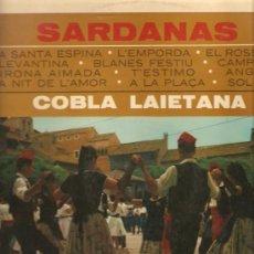Discos de vinilo: LP SARDANES / SARDANAS : COBLA LAIETANA . Lote 13579770