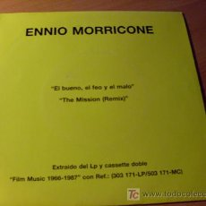 Discos de vinilo: ENNIO MORRICONE ( EL BUENO, EL FEO Y EL MALO / THE MISSION) 45 RPM ESPAÑA 1987 ( EX / EX ). Lote 13633038