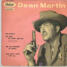 Discos de vinilo: DEAN MARTIN - RIO BRAVO *** EP CAPITOL ESPAÑA 1959 RARO. Lote 16319263