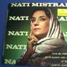 Discos de vinilo: NATI MISTRAL - LUNA DE ESPAÑA + 3 E.P. SINGLE EDITADO POR COLUMBIA EN 1965. Lote 26496663