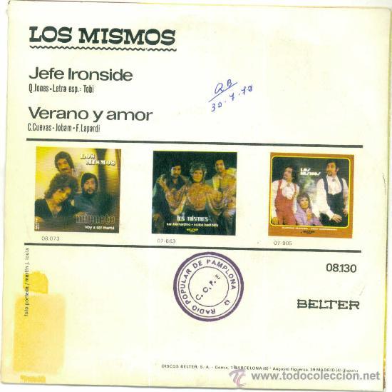 Discos de vinilo: LOS MISMOS. Jefe Ironside (vinilo single 1972) - Foto 2 - 15470337