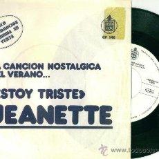 Discos de vinilo: JEANETTE. ESTOY TRISTE (VINILO SINGLE PROMOCIONAL 1972). Lote 13688325
