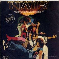 Disques de vinyle: HAIR / AQUARIUS / HAIR / GOOD MORNING STARSHINE / THE FLESH FAILURES-LET THE SUNSHINE IN (EP PROMO79. Lote 13755992