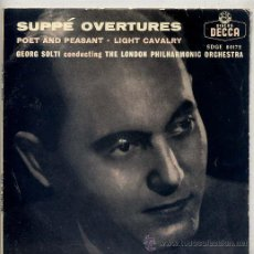 Discos de vinilo: ORQUESTA SINFONICA DE LONDRES - GEORG SOLTI / TEMAS (VER FOTO) EP DECCA 1958. Lote 13773108