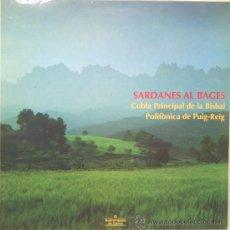 Discos de vinilo: SARDANES AL BAGES LP CARPETA DOBLE 1989. Lote 13835566