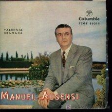 Discos de vinilo: MANUEL AUSENSI - VALENCIA / GRANADA - SINGLE 1958. Lote 13895326
