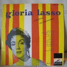 Discos de vinilo: GLORIA LASSO - EN ESPAÑOL, FRANCES, LA VOZ DE SU AMO GUADALAJARA, A LO LOCO,DOS ARBOLITOS ETC 10 T. Lote 24908615