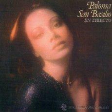 Discos de vinilo: PALOMA SAN BASILIO EN DIRECTO LP PORTADA DOOBLE 1978 ORIGINAL HISPAVOX. Lote 13868994