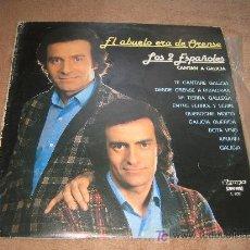 Discos de vinilo: LOS DOS ESPAÑOLES CANTAN A GALICIA. Lote 163602057