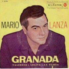 Discos de vinilo: MARIO LANZA - GRANADA - EP 1962. Lote 13923176