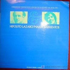 Discos de vinilo: LP - HIPOLITO LAZARO / MARIA BARRIENTOS. Lote 13955826