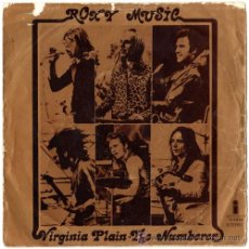 Discos de vinilo: ROXY MUSIC – VIRGINIA PLAIN / THE NUMBERER – SN SPAIN 1972 – ISLAND 12291A. Lote 14971235